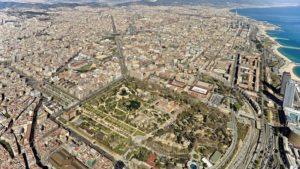 El parque de la Ciutadella vista desde el aire