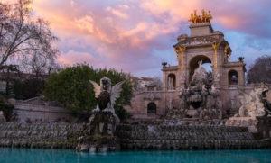 Composición paisajista del parque de la Ciutadella